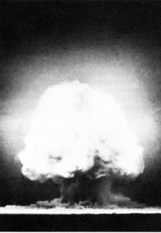 """Mushroom"" cloud from an atomic explosion"